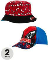 Spiderman 2 Pack - Cap And Reversible Sunhat
