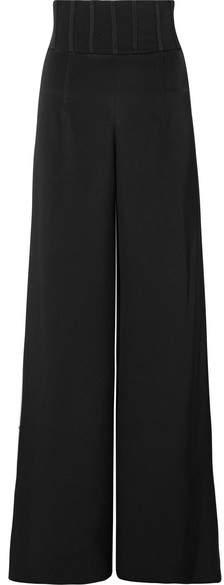 Cushnie et Ochs Jade Silk-crepe Wide-leg Pants - Black