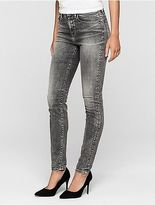Calvin Klein Womens Skinny Faded Grey High-Rise Jeans