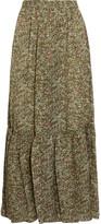 Vanessa Bruno Gilson Printed Silk-voile Maxi Skirt - FR38