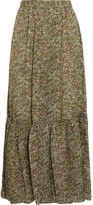 Vanessa Bruno Gilson Printed Silk-voile Maxi Skirt - Green