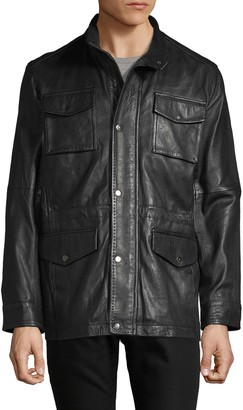 Rainforest Leather Patch Pocket Jacket