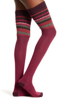 Smartwool Striped Chevron Over-The-Knee Wool Blend Socks