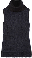 Rag & Bone Adele Ribbed Wool-blend Turtleneck Sweater - Midnight blue