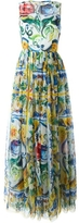 Dolce & Gabbana Tile Printed Chiffon Gown