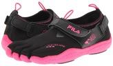 Fila Skele-Toes EZ Slide Drainage (Black/Hot Pink) - Footwear