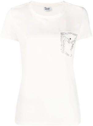 Liu Jo embellished-pocket T-shirt