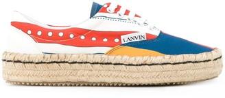 Lanvin colour-block espadrille sneakers
