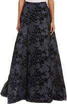 Carolina Herrera Silk-Blend Maxi Skirt