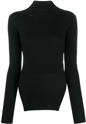 Plan C Ribbed Knit Roll Neck Jumper