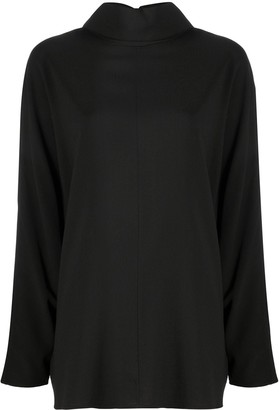 Co Funnel-Neck Batwing-Sleeves Top