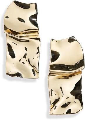FARIS Warp Polished Bronze Earrings