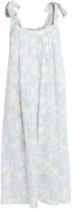 American Vintage Limonade Bow-detailed Printed Cotton-canvas Midi Dress