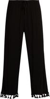 Velvet by Graham & Spencer Nevia tassel-trimmed cropped trousers