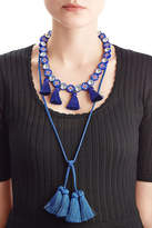 Shourouk Sautoir Mini Tassel Necklace with Crystals