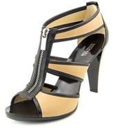 MICHAEL Michael Kors Berkley T Strap Women Open Toe Leather Tan Sandals.