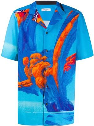 Valentino Abstract Print Short-Sleeve Shirt