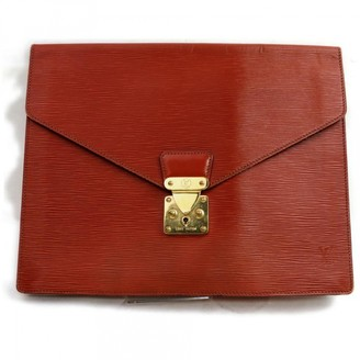 Louis Vuitton Monceau Brown Leather Clutch bags