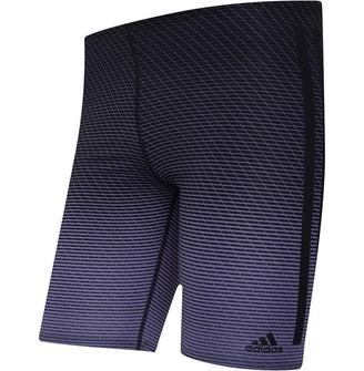 adidas Mens 3 Stripes Graphic Performance Swim Jammers Raw Indigo/Black