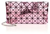 Bao Bao Issey Miyake Platinum Faux Patent Leather Crossbody Bag