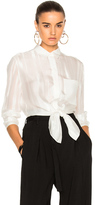 3.1 Phillip Lim Button Down with Waist Tie in White.