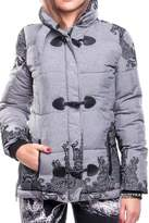Desigual Grey Puffy Coat