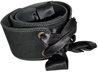 Cacharel Black Suede Belts