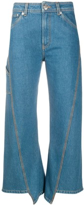 Lanvin Cropped Panel Jeans