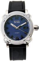 bulova accu-swiss 63B190 Silver-Tone & Black Watch