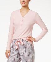 Alfani Ribbed Henley Pajama Top, Only at Macy's
