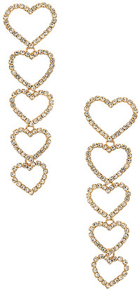 Ettika Drop Heart Earrings