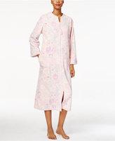Miss Elaine Plush Zip-Front Long Robe