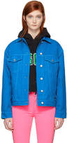 MSGM Blue Oversized Embroidered M Denim Jacket