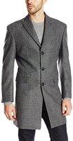 Calvin Klein Men's Plaza Solid Single Breasted Wool Blended Overcoat