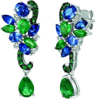 LeVian Le Vian 14K 4.14 Ct. Tw. Diamond & Gemstone Earrings