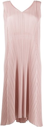 Pleats Please Issey Miyake pleated drawstring dress