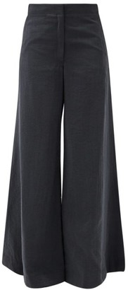 Lemaire Flared-leg Dry-silk Blend Suit Trousers - Black