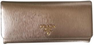 Prada Metallic Leather Wallets