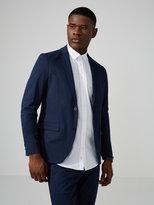 Frank + Oak The Laurier Summer Cotton Suit Jacket in Navy