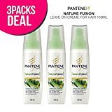 Pantene 3-Pack! Nature Fusion Leave on Creme for Hair 100ml