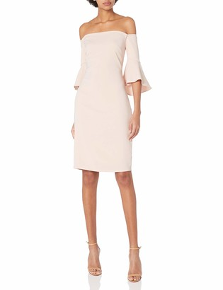 Laundry by Shelli Segal Women's Crepe Off The Shoulder Cocktail