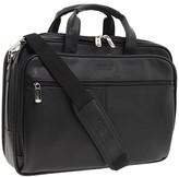Kenneth Cole Reaction I Rest My Case - 4 1/2 Double Gusset Top Zip Portfolio Computer Case (Black Nappa Lea) Computer Bags