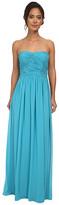 Donna Morgan Audrey Long Strapless Chiffon Dress