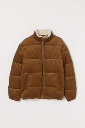 H&M Padded Corduroy Jacket - Beige