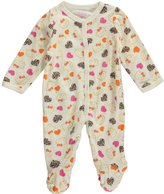 """Hello Kitty Baby Girls' """"Leopard Heart"""" Footed Coverall"""
