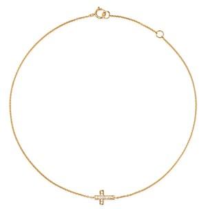 Bloomingdale's Kc Designs 14K Yellow Gold Diamond Cross Ankle Bracelet