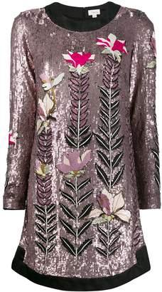 Temperley London magnolia sequin shift-dress