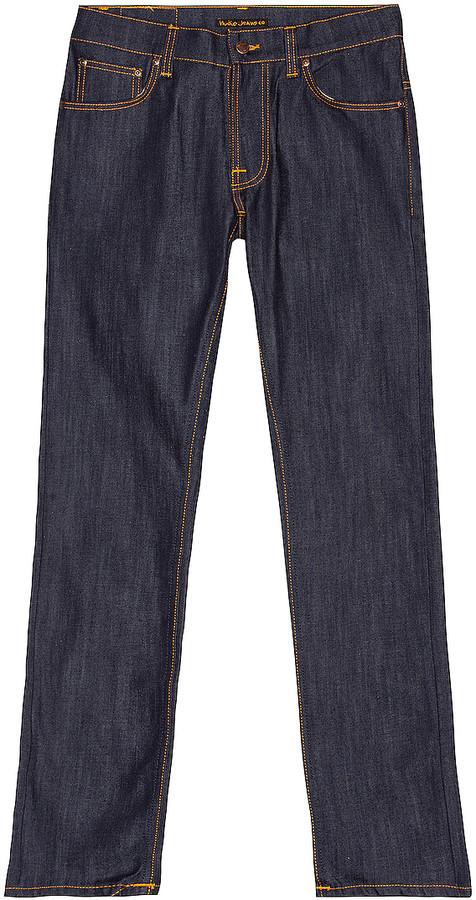 Nudie Jeans Thin Finn in Organic Dry Ecru Embo | FWRD