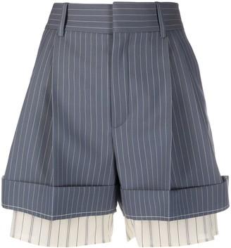 Chloé Layered Pinstripe Shorts