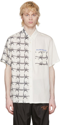 Filling Pieces White Barb Wire Resort Shirt